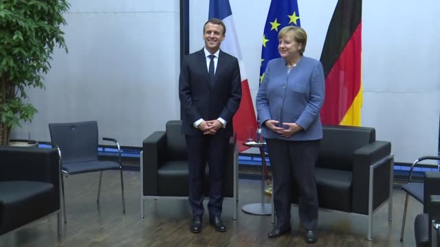 French President Emmanuel Macron and German Chancellor Angela Merkel meet in Bonn for the COP 23 climate talks