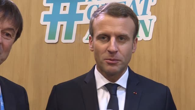 French President Emmanuel Macron says he is very happy that France has been chosen to host the 2023 Rugby World Cup and hopes to make it a great even