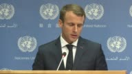 French President Emmanuel Macron says Syrian President Bashar al Assad is a criminal who must answer for his crimes in front of international justice