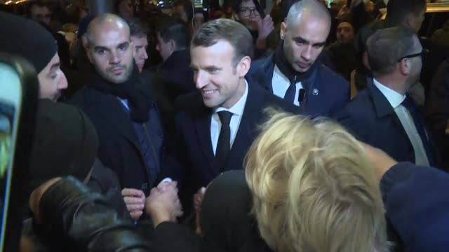 French President Emmanuel Macron visited Clichy sous Bois just outside Paris on Monday as part of a trip to promote his social policy