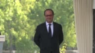 French President Francois Hollande attends a ceremony marking the Armenian genocide in Paris