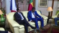 French President Francois Hollande begins an African trip in Cotonou where he will hold talks with Benin counterpart Thomas Boni Yayi before flying...