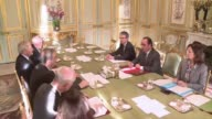 French President Francois Hollande on Monday met with 37 Nobel prize winners to discuss climate change on the sidelines of the COP21 climate...