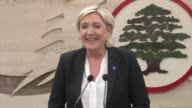 French presidential candidate Marine le Pen met Tuesday the leader of the Lebanese Forces party Samir Geagea who is a fierce opponent of Syrian...