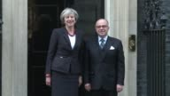 French prime minister Bernard Cazeneuve meets his British counterpart Theresa May at 10 Downing Street in London