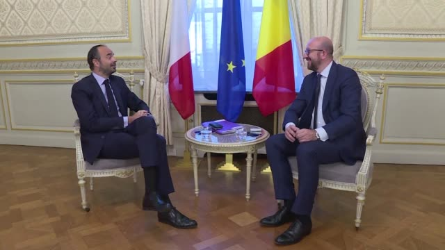 French Prime Minister Edouard Philippe arrives in Brussels to meet his Belgian counterpart Charles Michel and show his determination to bring...