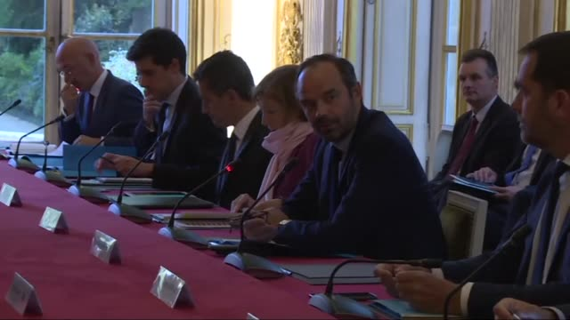 French Prime Minister Edouard Philippe meets with an interdepartmental committee at his residence to discuss the reconstruction of Saint Barthelemy...