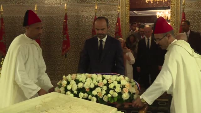 French Prime Minister Edouard Philippe on Thursday visited the Mausoleum of Mohammed V where he laid wreaths as part of an official visit to Morocco