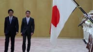 French Prime Minister Manuel Valls and his Japanese counterpart Shinzo Abe confirm the joint development of the Atmea middle range nuclear reactor