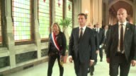 French Prime Minister Manuel Valls announces the construction by early 2016 of a humanitarian camp for 1500 people in the jungle of Calais where...
