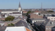 W/S, French Quarter, St. Louis Cathedral, rooftop view, New Orleans, USA