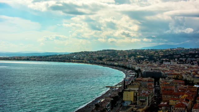 French Riviera Skyline Time Lapse