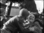 French women kissing American GIs at Liberation of Paris / documentary