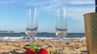 Fresh aperitif on sand