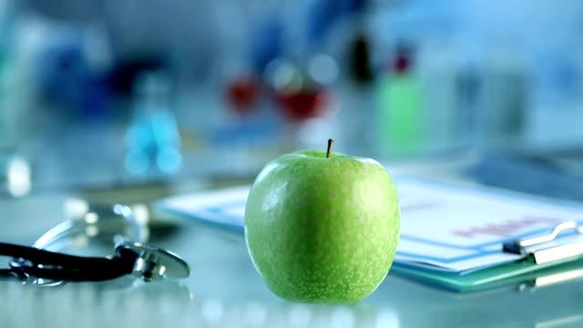 Fresh apple in lab