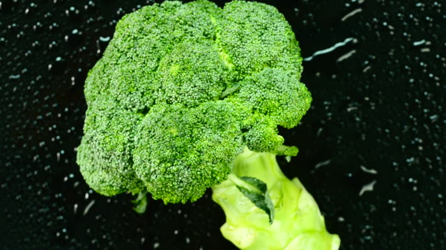 Fresh broccoli. Top view. Close up.