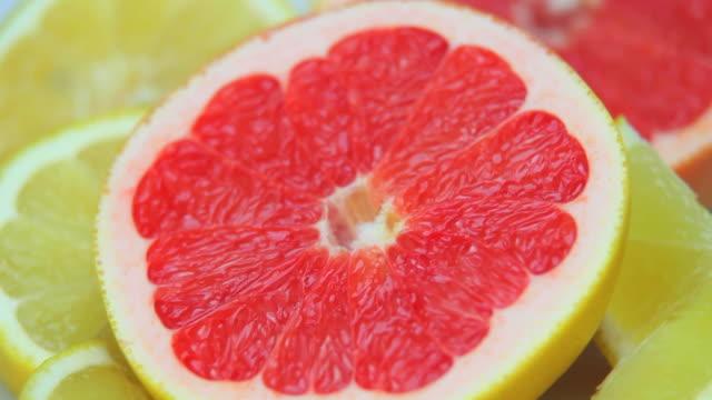 Fresh Citrus Fruits Dolly Shot