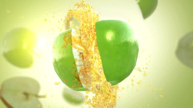 Fresh Green Apple (Slow Motion)