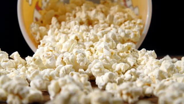 Fresh Popcorn Falling From a Box