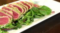 fresh raw tuna salad