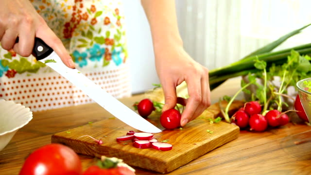fresh salad with radishes