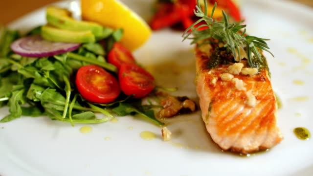 Fresh salmon meal