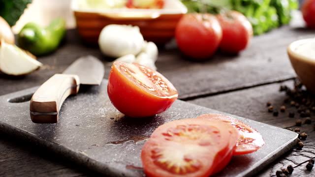 Fresh sliced tomato
