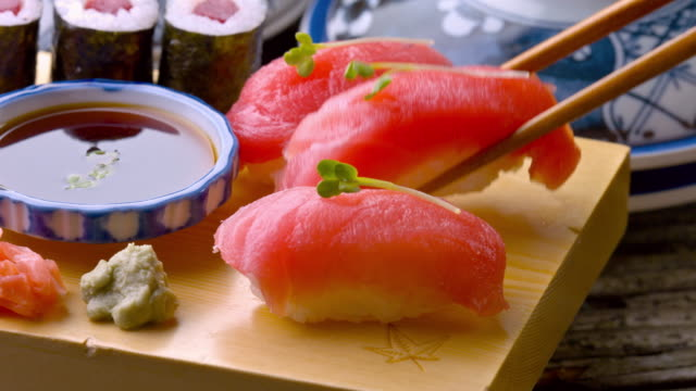 Fresh Sushi dolly shot
