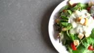 fresh vegetable salad - healthy food