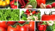 Verdure fresche-montaggio