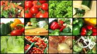 Frisches Gemüse-Montage