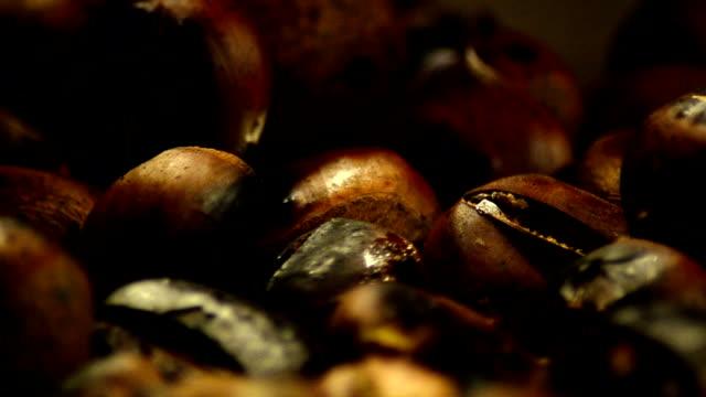 Fried Chestnut - StockVideo