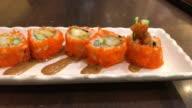fried shrimp sushi roll