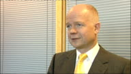 William Hague interview ENGLAND London INT William Hague MP interview SOT Very regrettable/ Where a mistake happens like that against people not...
