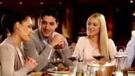 Friends at restaurant