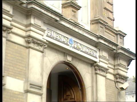 Friends Provident investors windfall LIB 'Friends Provident' building ZOOM IN on sign Building