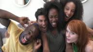 MONTAGE - Friends Selfies Mobile Phone Loft California