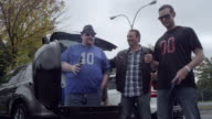 Friends Tailgating at Sporting Event