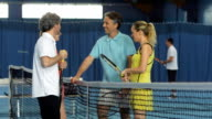 MS Friends Talking After Playing Tennis
