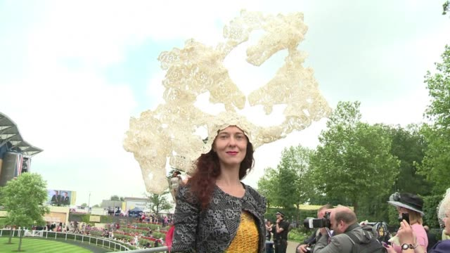 From art pallets to waves there was no lack of outlandish designs for the hats on show at Ascot Ladies Day in Berkshire on Thursday as punters placed...