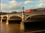 PAN from bridge crossing Thames River to Big Ben / London