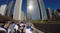 Cheering Crowds Line Streets During Chicago Cubs Victory Parade on Nov 4 2016