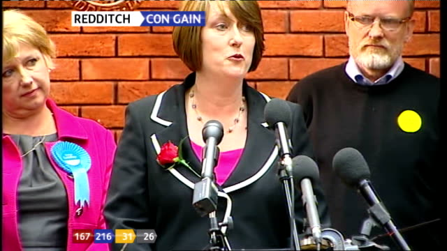 Jacqui Smith speech SOT Thanks polling station staff and police / grateful to Labour team and agent / thanks fellow candidates / a good thing to take...