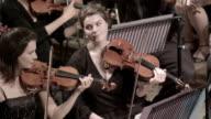 Rezeption violinists in symphony orchestra