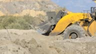Front End Loader moving earth on a mine