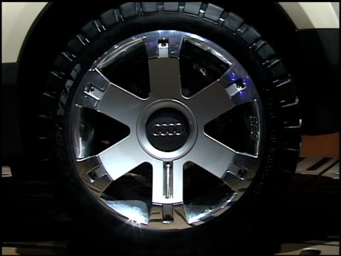 WS front end of Audi Steppenwolf / WS front quarter driver side view / CU tire and rim / WS rear end / MS driver side profile of from end PAN RIGHT...