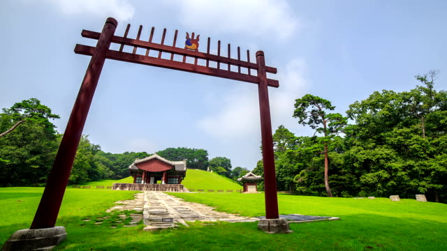 Front gate in Gyeongneung of Joseon royal tomb (Korea Historic Place 193, UNESCO World Heritage Sites)