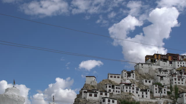Front view of Thiksay Monastery, Ladakh, India