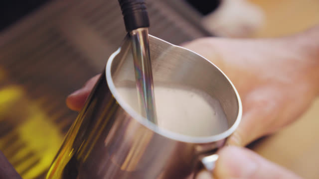 Frothing Milk for Latte