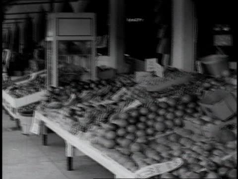 PAN Fruit and vegetables displayed at street market / Miami, Florida